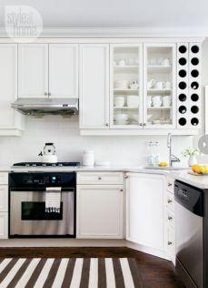 Stylish kitchen designs ideas with corner sinks 49