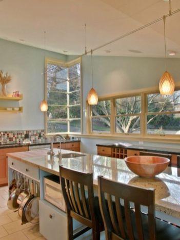 Stylish kitchen designs ideas with corner sinks 58