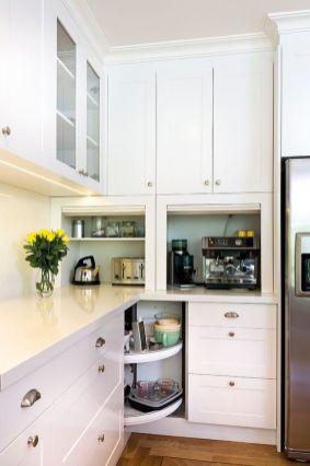 Stylish kitchen designs ideas with corner sinks 63