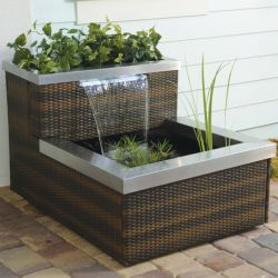 Stylish outdoor garden water fountains ideas 16