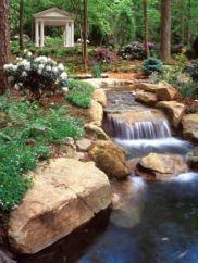 Stylish outdoor garden water fountains ideas 48