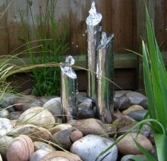 Stylish outdoor garden water fountains ideas 59