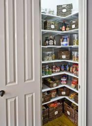 Amazing stand alone kitchen pantry design ideas (25)