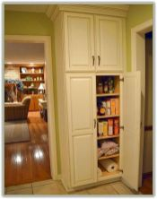 Amazing stand alone kitchen pantry design ideas (26)