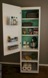 Amazing stand alone kitchen pantry design ideas (27)