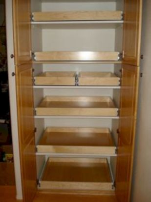 Amazing stand alone kitchen pantry design ideas (34)