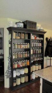 Amazing stand alone kitchen pantry design ideas (35)