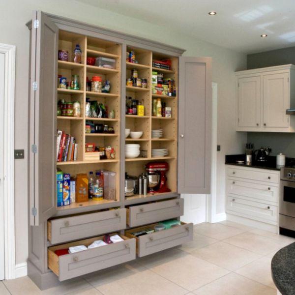 55 Amazing Stand Alone Kitchen Pantry Design Ideas