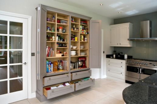 Amazing stand alone kitchen pantry design ideas (47)