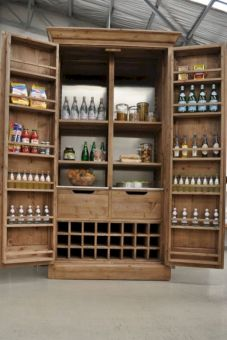 Amazing stand alone kitchen pantry design ideas (6)