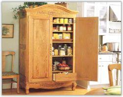 Amazing stand alone kitchen pantry design ideas (9)