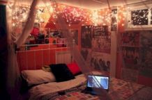 Cozy bohemian teenage girls bedroom ideas (10)
