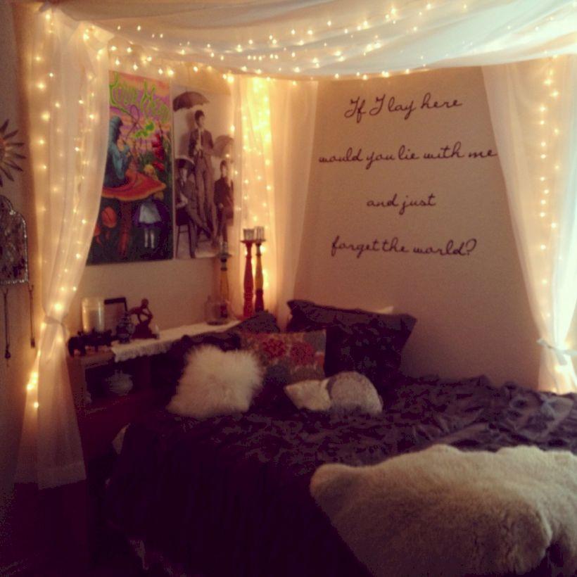 Cozy bohemian teenage girls bedroom ideas (12) - Round Decor on Cozy Teenage Room Decor  id=79420