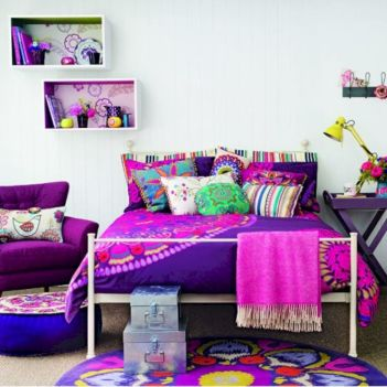 Cozy bohemian teenage girls bedroom ideas (14)