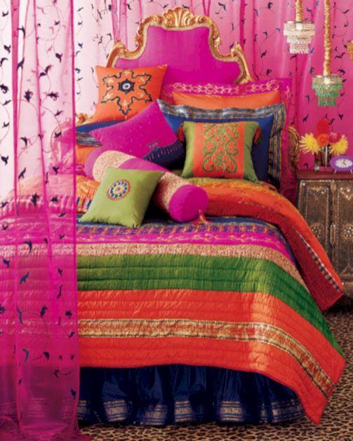 Cozy bohemian teenage girls bedroom ideas (16)