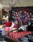 Cozy bohemian teenage girls bedroom ideas (3)