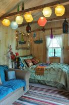 Cozy bohemian teenage girls bedroom ideas (47)