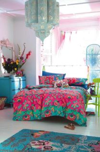 Cozy bohemian teenage girls bedroom ideas (49)