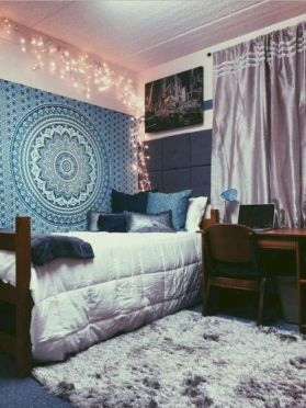 Cozy bohemian teenage girls bedroom ideas (52)