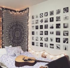 Cozy bohemian teenage girls bedroom ideas (53)