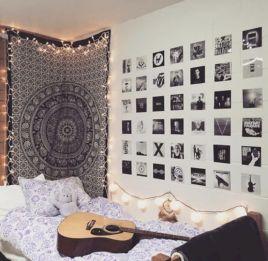 Cozy bohemian teenage girls bedroom ideas (53)