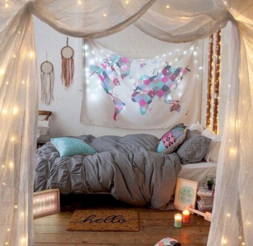 63 Cozy Bohemian Teenage Girls Bedroom Ideas - ROUNDECOR on Cozy Teenage Room Decor  id=17801