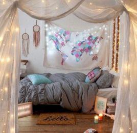 Cozy bohemian teenage girls bedroom ideas (54)
