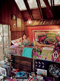Cozy bohemian teenage girls bedroom ideas (62)