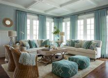 Creative diy beachy living room decor ideas (10)