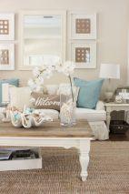 Creative diy beachy living room decor ideas (13)