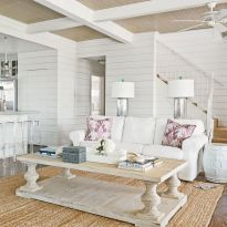 Creative diy beachy living room decor ideas (18)