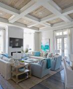 Creative diy beachy living room decor ideas (20)
