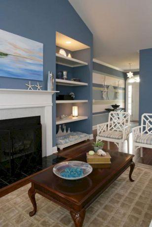 Creative diy beachy living room decor ideas (41)