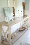 Creative diy beachy living room decor ideas (46)