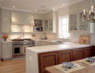 Inspiring u shaped kitchen ideas with breakfast bar (25)