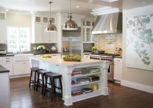 Inspiring u shaped kitchen ideas with breakfast bar (9)