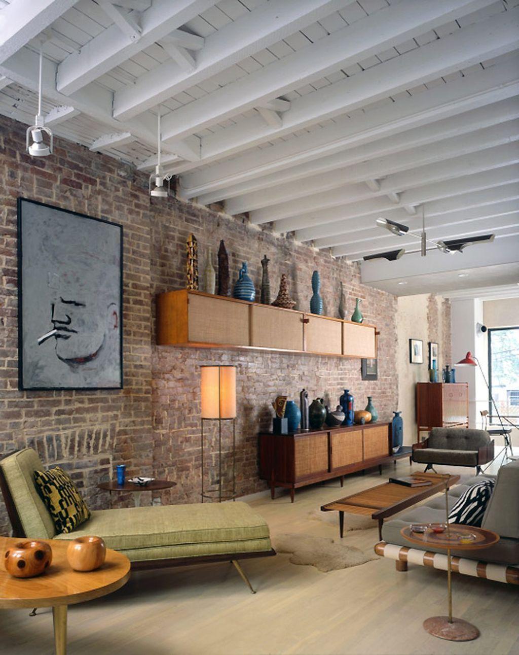 Mid century modern apartment decoration ideas 14