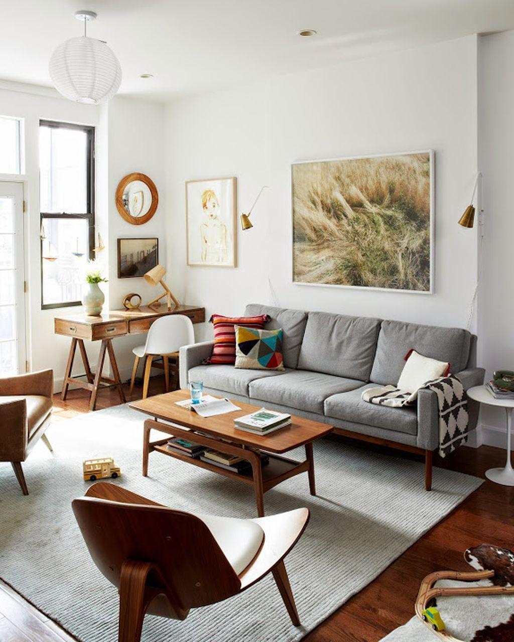 Mid century modern apartment decoration ideas 21 - ROUNDECOR