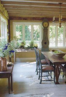Mid century scandinavian dining room design ideas (16)