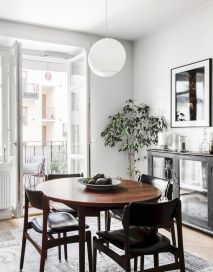 Mid century scandinavian dining room design ideas (18)