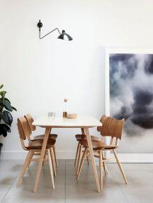 Mid century scandinavian dining room design ideas (28)