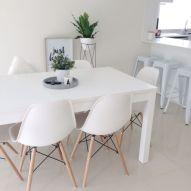 Mid century scandinavian dining room design ideas (30)