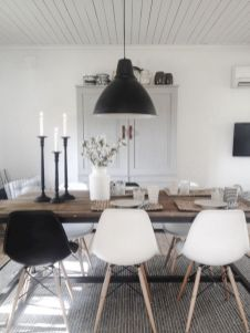 Mid century scandinavian dining room design ideas (33)