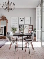 Mid century scandinavian dining room design ideas (44)
