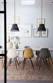 Mid century scandinavian dining room design ideas (48)