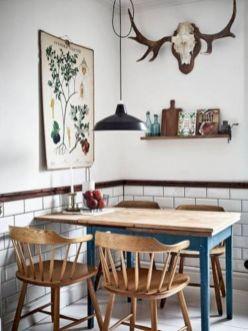Mid century scandinavian dining room design ideas (49)