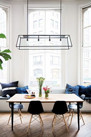 Mid century scandinavian dining room design ideas (55)
