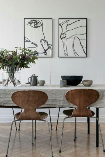Mid century scandinavian dining room design ideas (56)