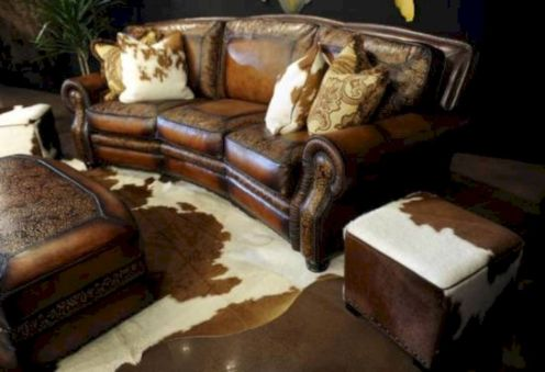 Modern leather living room furniture ideas (10)