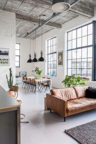 Modern leather living room furniture ideas (11)
